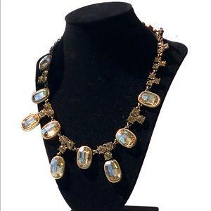 Sparkly Gold Vintage Necklace & Ring Set